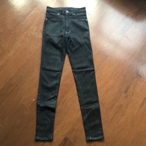 Carmar, high rise , black WAX skinny jeans